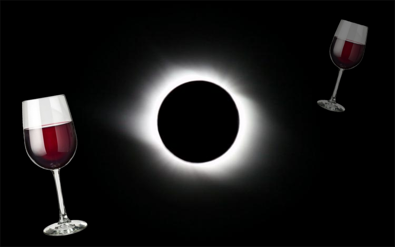 Eclipse with wine