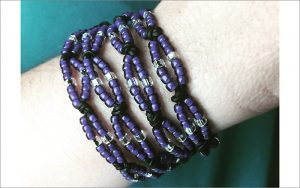 Bead for Peace double knotted twist