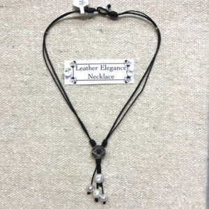 Leather Elegance Necklace
